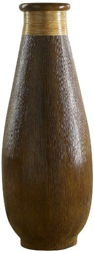 Polivaz DV-WD-BTL-L-BRN Wood Grain and Rattan Floor Vase, Large - http://www.specialdaysgift.com/polivaz-dv-wd-btl-l-brn-wood-grain-and-rattan-floor-vase-large/