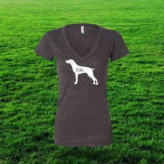 Jack knew dogs were companions for life. Show everyone how much your German Shorthaired Pointer means to you with this German Shorthaired Pointer Life T. For every shirt sold By Jack will donate $10 t