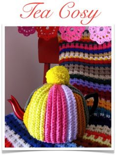 Okay, I know it is a tea cozy - but wouldn't it make a fun hat? - http://sarahlondon.wordpress.com/p-a-t-t-e-r-n-s/