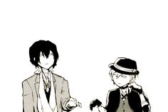"""""""Don't walk next to me"""" """"Aren't you the one sticking to my side Chuuya?"""""""