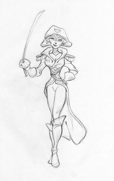 Capt. Amelia from Treasure Planet. --  http://4.bp.blogspot.com/-agZjfJFBf_o/UYZwD85LGJI/AAAAAAAAs7g/FtmqJONnOaU/s1600/treasure_planet_concept_art_ken_duncan_v81.jpg