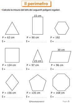 Schede didattiche sul Perimetro 5 Math For Kids, Fun Math, Math Games, 7th Grade Math Worksheets, Math Crafts, Math Sheets, Area And Perimeter, Teaching Math, Homeschool