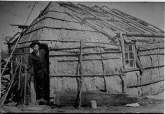 John Spears (Ojibwa) in wigwam, 1930? – 1940?  by Marquette University Archives.