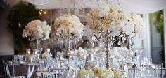 White on White Wedding Reception Table Design by Karen Tran