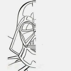 Craft Time: Draw the Other Half of Darth Vader's Face Cc Drawing, Drawing Skills, Star Wars Desenho, Darth Vader Face, Art Sub Plans, Anniversaire Star Wars, Art Handouts, Early Finishers Activities, 5th Grade Art