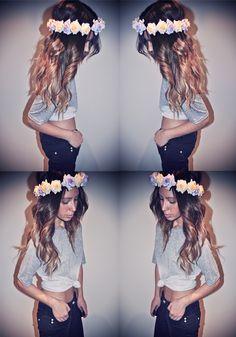 hair + flowers