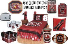 """Carolina Gamecocks Dorm Room!"" by jewelrywarehouse on Polyvore"