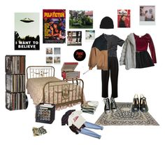 """nice room"" by blkgrid ❤ liked on Polyvore featuring Dolce&Gabbana, Band of Outsiders, Polaroid, Dot & Bo, Brixton, Converse, RED Valentino, Humör and CB2"
