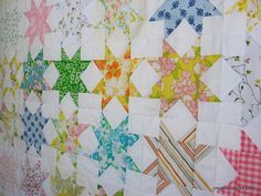 vintage stars ... personally, I love the striped one just tossed in.  Adds so much life to an ordinary layout.