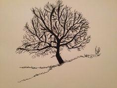 Old tree sketching