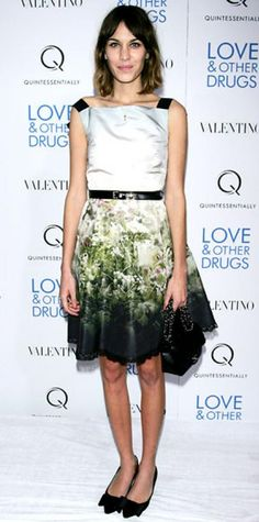 Look of the Day › November 17, 2010 WHAT SHE WORE Chung wore a printed Valentino dress with bowed pointy-toe flats in N.Y.C.