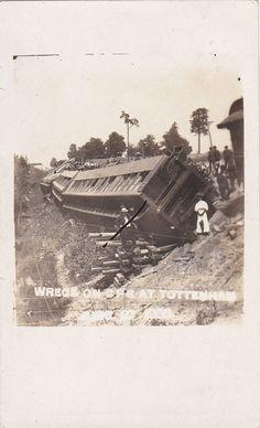 RP; TOTTENHAM, Ontario, Canada, 1908; Canadian Pacific Railroad Train wreck