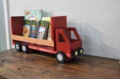 diy truck shelf for books