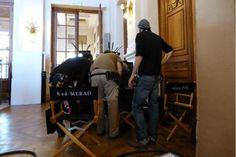 Saint-Gilles: Danny Boon et Kad Merad en tournage à l'Hôtel de Ville -  Brussels, Belgium