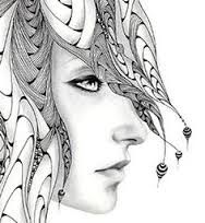 Image result for zentangle woman face