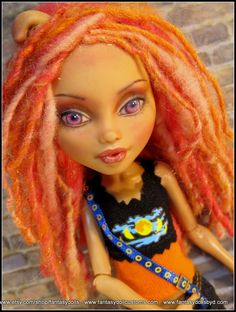 Monster Doll High Fashion Repaint OOAK Dressed by Fantasydolls