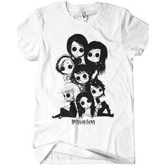 Creepy Tee (White) ($20) ❤ liked on Polyvore featuring tops, t-shirts, shirts, tee-shirt, white top, white t shirt, t shirts and white tee
