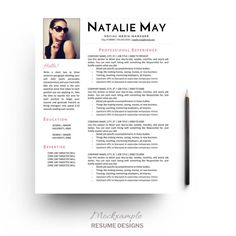 minimalist resume template cv cover letter by mockxample on etsy - Resume Template Cover Letter