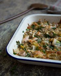 Roasted Leek and White Bean Gratin Recipe on Food & Wine