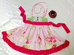 Girl Dress Size 2T; Sweat Ellie Halter; Handmade; Everyday Use; 100 % Cotton #Handmade #Everyday