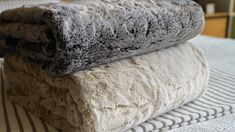 frosted-faux-fur-throws-1 Neutral Bedding, Linen Bedding, Bed Company, Faux Fur Throw, Blankets, Charcoal, Bedrooms, Colours, Autumn