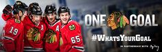 Sharpie and the Hawks make a blind girl's #WhatsYourGoal come true. This is why the Hawks are awesome