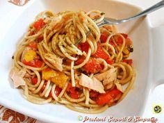 Spaghetti+integrali+con+tonno+e+verdure