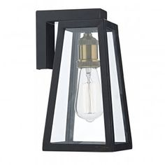 The Glass tapered box exterior light is a smart retro style light. The four sided glass lanterns allows maximum light to be gained and also shows off the light bulb and detailed lamp or bulb holder. Whilst this exterior light can fit any type of Screw in bulb we suggest buying the vintage style bulbs as shown in the image (optional Extra) to complete the all out vintage look.