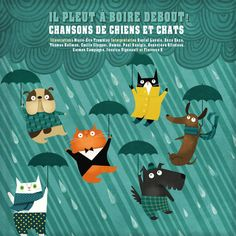 It's Raining Cats and Dogs!: Sing-Along Animal Songs (Hardcover/CD Combo) Sing Along Songs, Silly Songs, Songs To Sing, Kids Songs, Book Reviews For Kids, Raining Cats And Dogs, Little Kitty, Wow Art, Illustrations
