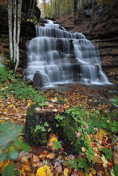le 3 cascate, Casentino, Italy