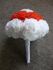 papír virágcsokor / paper flower bouquet