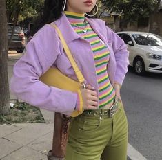 Street Style: The 30 Best Looks For Everyday - Outfit Ideas Hipster Outfits, Retro Outfits, Vintage Outfits, Colourful Outfits, Hipster Clothing, Hip Hop Fashion, 90s Fashion, Retro Fashion, Vintage Fashion