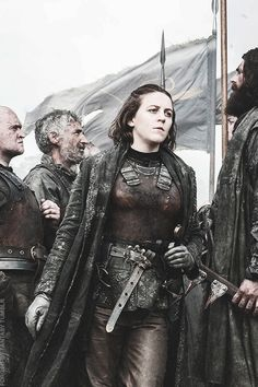 Still don't understand why the show changed her name :P  Asha Greyjoy - Game of Thrones