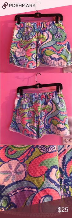 Inspired Lilly Pulitzer shorts Inspired Lilly Pulitzer shorts these were handmade size XS never worn new Lilly Pulitzer Shorts