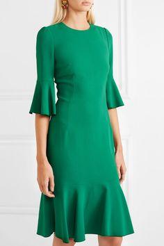 Dolce & Gabbana | Ruffled cady dress | NET-A-PORTER.COM
