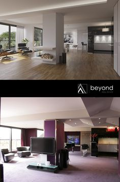 This #Penthouse was redeveloped by beyond REAL ESTATE, Düsseldorf (Germany) - The Architectural Visualization are produced by beyond REALITY - www.beyond-realit... - #realestatedevelopment #renovation #beforeandafter #realestatemarketing #realestate #penthouse