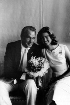 Gary Cooper and his daughter, Maria Cooper Janis.