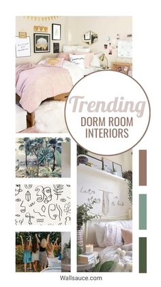 Trust us when we say that making that small side of your room feel like home is so important. This tiny space is your bedroom, living room, office and party pad all rolled into one! That's why you need some Uni room décor tips to know the essentials of leading a happy dorm life. From gallery walls with pictures of friends, plenty of plants and cute boho schemes, these dorm room interior ideas are just what you need to inspire you! Get inspired on the blog! #dormroomideas #dormroom