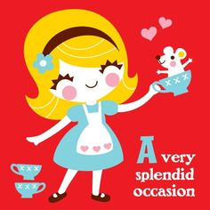 Alice greeting card by littlebeehive on Etsy