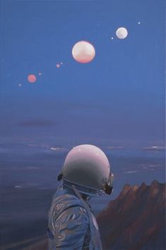 """Scott Listfield's """"Once An Astronaut. - Scott Listfield's """"Once An Astronaut. Aesthetic Art, Aesthetic Pictures, Wallpaper Space, Retro Futurism, Sci Fi Art, Surreal Art, Trippy, Wall Collage, Cosmos"""