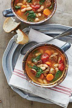 Chicken Sausage and White Bean Stew
