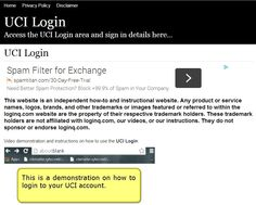 Secure Login   Access the UCI login here. Secure user login to UCI. To access the secure area for UCI you must proceed to the login page. #UCILogin