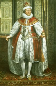 King James I of England. Son of Mary, Queen of Scots and Lord Darnley.