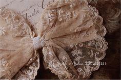 Lace フランスアンティーク繊細美しい花手刺繍レース襟飾りドレスジャ インテリア 雑貨 家具 Antique ¥3400yen 〆06月19日