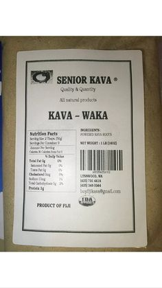 Pure Fiji Kava 1 Lb. $45.95 Waka Powder *** Additional details at the pin image, click it  : Herbal Supplements