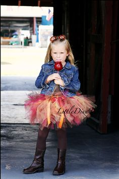 Jazz up and accessorize with our Fall Harvest Moon Tutu! @Kathy Davis-Reid Diva Tutus
