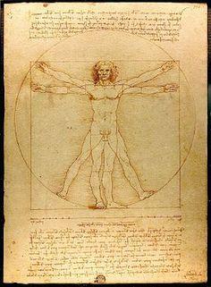Leonard de Vinci- l'homme de Vitruve. Initié. Géométrie sacrée, inventions, alchimie...