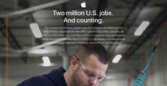 Apple ha creato oltre 2 milioni di sposti di lavoro negli Statu Uniti