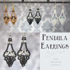 *Free Pattern* - 'Pendula' Earrings