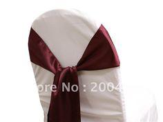 burgundy satin  chair sash/chair sash/chair bow